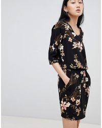 dd829938fff B.Young Velvet Slip Dress in Black - Lyst