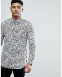 DIESEL - S-duny All Over Print Shirt Black - Lyst