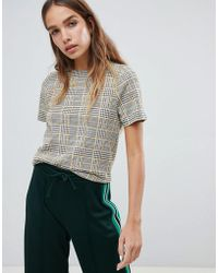 New Look - Checked Boxy Tee - Lyst