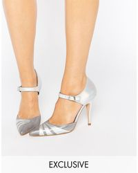 Terry De Havilland - Fran Silver Irredescent Heeled Shoes - Lyst