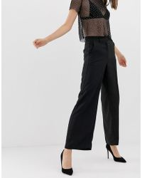 Warehouse - Tuxedo Wide Leg Trousers - Lyst