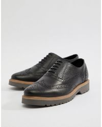 Ben Sherman - Scotch Grain Brogues In Black Leather - Lyst