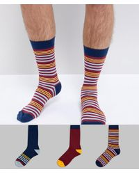 Cheap Price Low Shipping Fee Clearance Big Sale Made In UK Textured Socks In Gift Box In Burgundy & Green & Navy 3 Pack - Multi Asos Order Cheap Price NS6ru