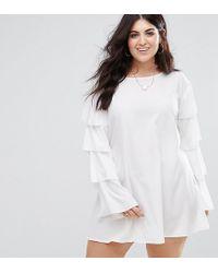 AX Paris - Ruffle Sleeve Shift Dress - Lyst