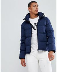 Emporio Armani - Down Padded Jacket In Navy - Lyst