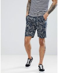 Bellfield - Slim Fit Chino Short With Wave Print - Lyst