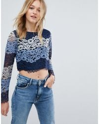 Oeuvre - Long Sleeve Lace Top - Lyst