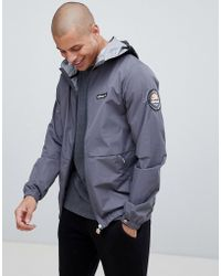 Ellesse - Migliore Lightweight Jacket With Logo Hood Taping In Grey - Lyst