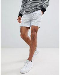 ASOS - Design Skinny Shorter Shorts In Ice Gray - Lyst