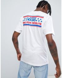 92a7d70a65e602 Vans Heritage T-shirt With Back Print In Yellow in Yellow for Men - Lyst