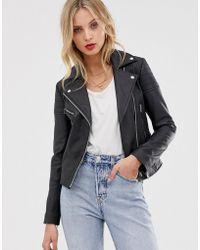 Barneys Originals - Barney's Originals Leather Biker Jacket - Lyst