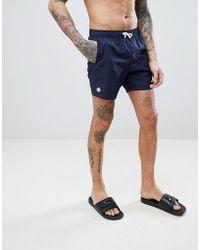 Pretty Green - Logo Swim Shorts In Navy - Lyst