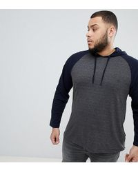 French Connection - Plus Long Sleeve Raglan Top With Hood - Lyst