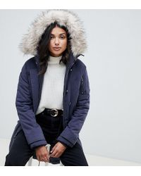 ASOS - Asos Design Tall Luxe Parka With Faux Fur Trim - Lyst