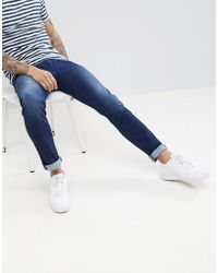 Armani Exchange - J13 Slim Fit Mid Wash Stretch Jeans - Lyst