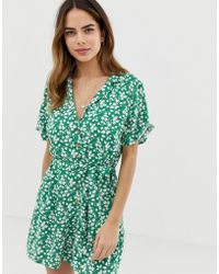 Abercrombie & Fitch Playsuit In Print