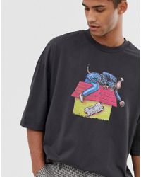8d583877 ASOS - Snoop Dogg Oversized T-shirt With Front And Back Print - Lyst