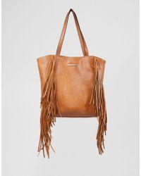 Little Mistress - Fringed Bag - Tan - Lyst