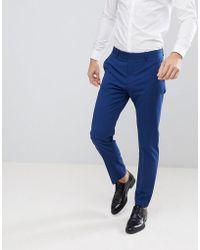 Mango - Man Slim Fit Suit Pants In Navy - Lyst