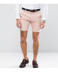 Only & Sons - Skinny Shorts In Cotton Sateen - Lyst