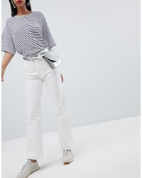 Weekday - Row Slim Straight Leg Jeans With Organic Cotton In White - Lyst