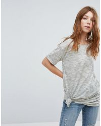 Oeuvre - T-shirt With Knot Detail - Lyst
