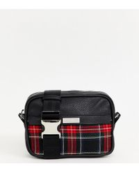 ASOS - X Laquan Smith Leather Cross Body Bag With Check Panel - Lyst