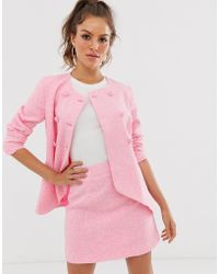 UNIQUE21 Double Breasted Blazer - Pink