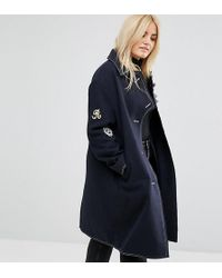 ASOS - Coat With Military Badges - Lyst