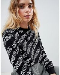 House of Holland - Logo Print Skater Crop Top - Lyst