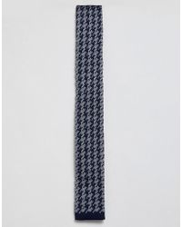 Moss Bros - Moss London Knitted Tie With Dogstooth Design - Lyst