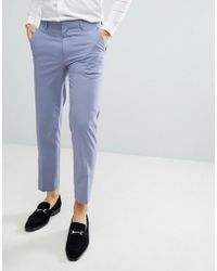 ASOS - Skinny Smart Trousers In Lilac - Lyst