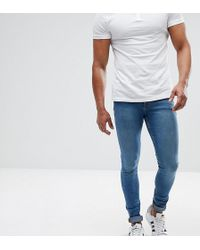 ASOS - Asos Tall Extreme Super Skinny Jeans In Mid Blue - Lyst
