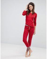 Esprit - Star Print Pyjama Bottoms - Lyst