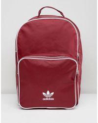 adidas Originals - Adicolor Backpack In Burgundy Cw0627 - Lyst