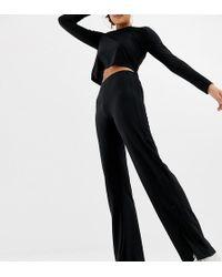 Collusion - Pantalones de campana elegantes con abertura en el lateral de - Lyst