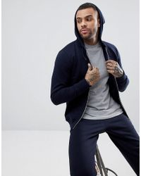 PS by Paul Smith - Hooded Zip Through Sweat In Navy - Lyst