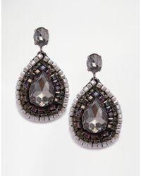 Nali - Grey Drop Stone Earrings - Lyst
