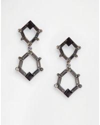 Nali - Drop Hexagon Earrings - Lyst
