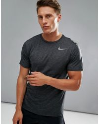 eabfa154c Nike Hyperdry T-shirt In Black With Camo Aq1091-010 in Black for Men ...