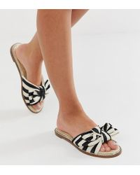 36d255f91b6 Bershka Ghillie Flatform Espadrille Sandals In Tan in Brown - Lyst