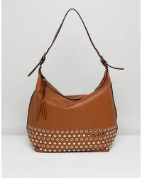Lavand - Slouchy Shoulder Bag With Eyelet Detailing - Lyst