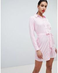 AX Paris - Striped Shirt Dress - Lyst