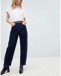 Whistles - High Waist Barrel Straight Leg Jeans - Lyst