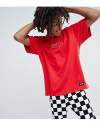 Pull&Bear - Exclusive Oversize T-shirt In Red With Logo - Lyst
