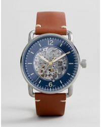 Fossil - Me3159 Commutor Automatic Leather Watch 42mm - Lyst