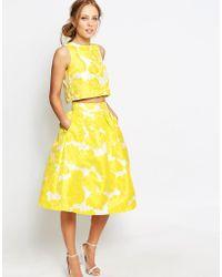 Chi Chi London - Jacquard Full Midi Skirt Co-ord - Lyst