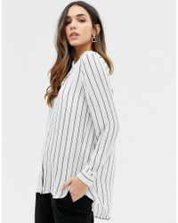 Vila - Stripe Shirt - Lyst