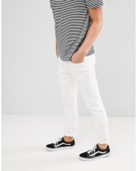 Mango - Man Slim Jeans In White - Lyst