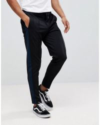 SELECTED | Tapered Trousers With Stripe | Lyst